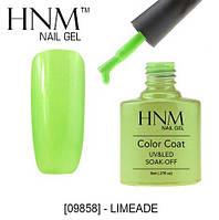 Гель-лак HNM 09858 limeade светлый зеленый сшиммером