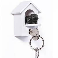 Ключница настенная и брелок для ключей Watch Dog Qualy (белый-черный)