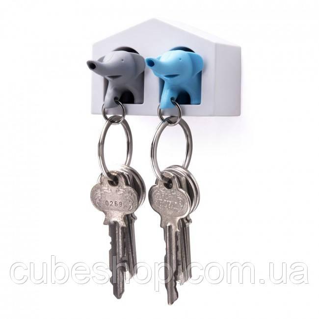 Ключница настенная и брелки для ключей Duo Elephant Qualy