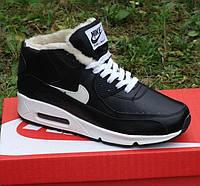 Зимние кроссовки Nike Air Max 90 с мехом (реальные фото!) 44