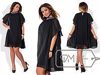 Эффектное женское платье Батал р-2568BR