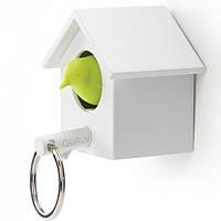 Ключница настенная и брелок для ключей Cuckoo Qualy (белый-зеленый)