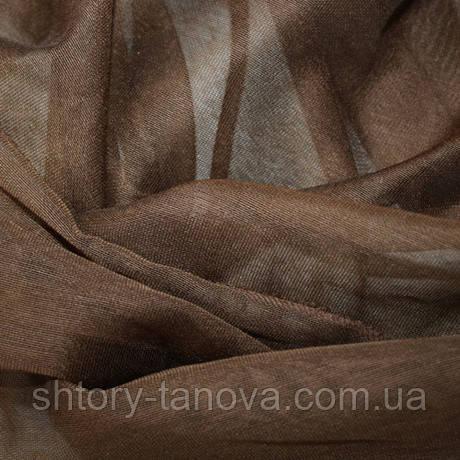 Купить ткань для тюли кисея micro коричневая