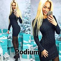 Теплое женское платье н-3058PL