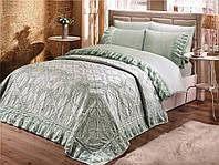 Комплект постельного белья Gelin Home NESLISAH PIKE SET  евро бирюзовый 240*260