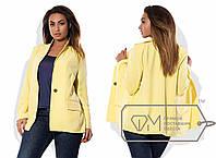 Эффектный женский пиджак в больших размерах н-4245BR