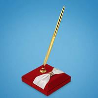 Свадебная ручка для росписи на красной подставке