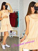 Свободное летнее платье без рукавов в расцветках d-5531PL
