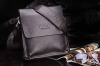 Мужская деловая сумка- планшет,черного цвета, кожаная, отличный подарок