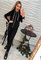 """Костюм женский спортивный """"Balenciaga"""" с лампасами: мастерка на молнии с капюшоном и штаны (2 цвета) серый, M"""