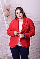 Нарядный женский пиджак (батал) в расцветках t-5731BR