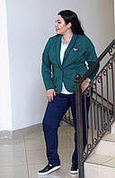 Женский пиджак в больших размерах (4 цвета) i-6067BR