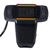 Универсальная веб камера LESKO А 870 универсальная USB для скайпа видеосвязи звонков фото точная с микрофоном