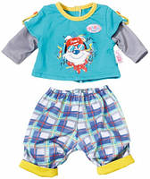 Набор одежды для куклы Baby Born - Малыш на прогулке (клетчатые штаны) (823927-2)