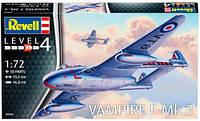 Истребитель Vampire F Mk.3, 1:72, Revell (03934)
