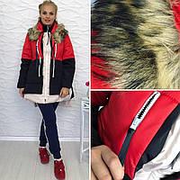 куртка зимняя женская аляска трансформер 2126 рус