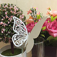 Декор для украшения бокалов, свадебные картонные бабочки