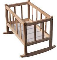 Кроватка для кукол 172016 (ель) ТМ Дерево