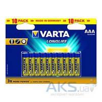 Элемент питания Varta LONGLIFE AAA BLI 10 ALKALINE