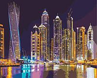 Рисование по номерам Идейка Ночной Дубай (KH2184) 40 х 50 см