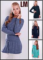 Женская туника 8827 44,46,48 ажурная свитер длинный шерстяная зимняя осенняя весенняя на работу в школу теплая