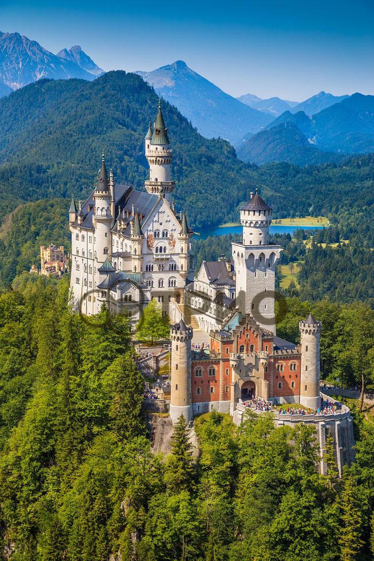 Настенный обогреватель картина Замок. Размер 100х57 см., Мощность 400 Вт., макс. темп. 75 С