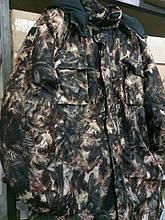 """Костюм зимний (длинная куртка) """"Еловый лес"""", ткань гладкая алова. рр 48"""