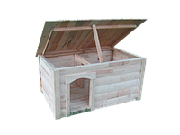 Будка для собаки | Закрытая веранда | Съемная крыша | Односкатная | Блокхауз | Массив | Сосна