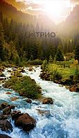 Настенный обогреватель картина Горная Река. Размер 100х57 см., Мощность 400 Вт., макс. темп. 75 С