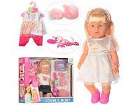 Кукла детская с бутылочкой горшочком и платьицем