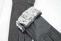 Теплые зимние классические черные перчатки, фото 1