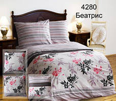 Комплект постельного белья полуторный  БЕАТРИС  ПОПЛИН  (навол.-70*70)