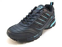 Кроссовки  Bona кожаные синие унисекс (бона)(р.36,37,38,39,40)