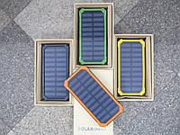 Портативное зарядное устройство Павербанк с солнечной батареей Powerbank Solar 40000 LED Black, blue, green