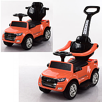 Детский электромобиль 2в1(каталка-толокар) M 3575EL-7,мягкое сиденье