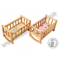 Детская деревянная кроватка для кукол