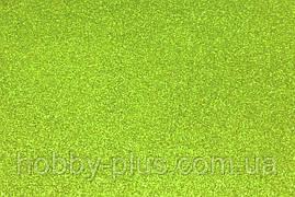 Фоамиран глиттерный 2 мм, 20x30 см, Китай, ОЛИВКОВЫЙ