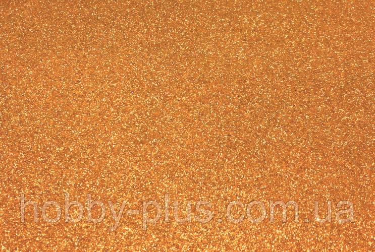 Фоамиран глиттерный 2 мм, 20x30 см, Китай, БРОНЗА