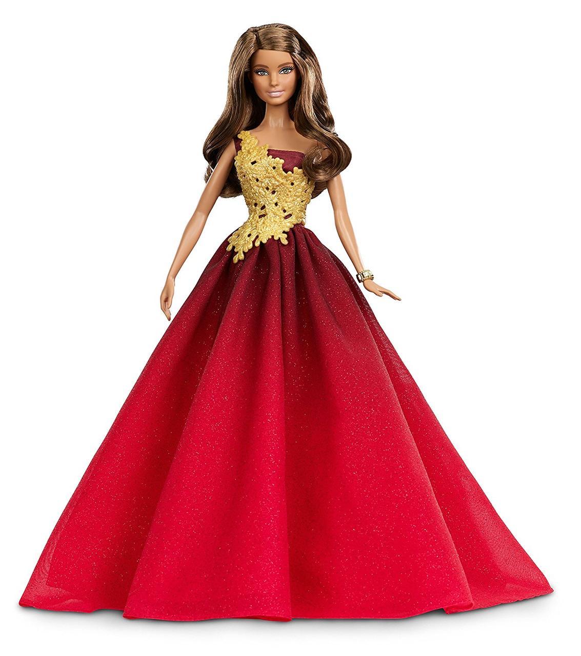 Кукла Барби Barbie коллекционная Праздничная в красном платье Barbie Holiday Doll DRD25