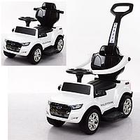 Детский электромобиль 2в1(каталка-толокар) M 3575EL-1,мягкое сиденье