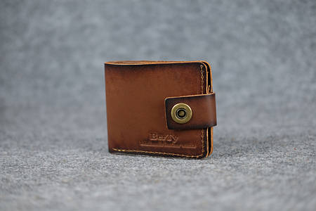 Классическое мужское портмоне (с карманом для мелочи)  10463  Италия   Коричневый