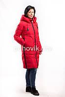 Пуховик красный Snow owl 17A7380 размеры - L, XL