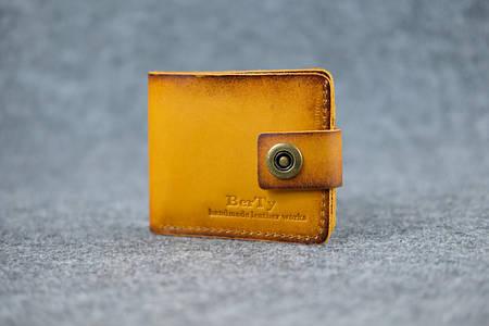 Классическое мужское портмоне (с карманом для мелочи) |10465| Италия | Янтарь