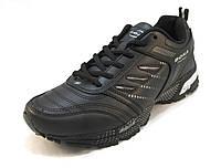 Кроссовки  Bona кожаные черные унисекс (бона)(р.36,37,38,39)