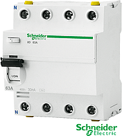 Устройство защитного отключения ILD 4р. 63А АС 30  Schneider Electric(УЗО)