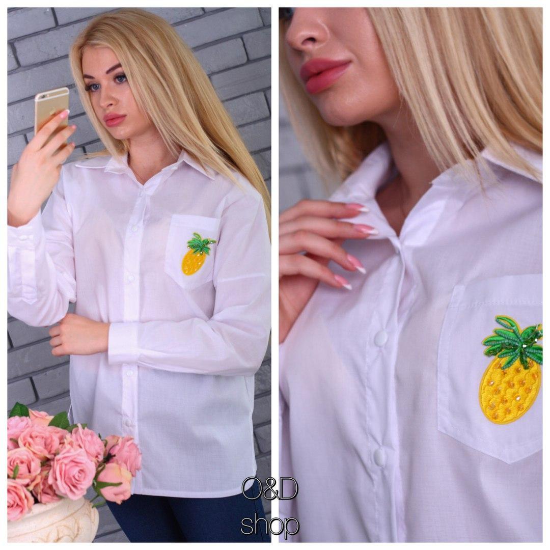 60b49fe7f35 Рубашка женская с вышивкой хлопок