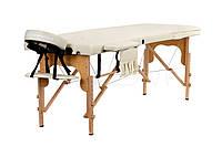 Массажный стол BodyFit 3 сегментный деревянный  бежевый