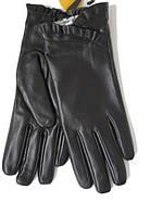 Кожаные цветные женские перчатки  для осенне-зимнего сезона