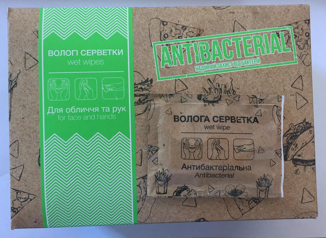 PRO Серветки вологі для рук та обличчя антибак., в боксі «FOOD-COURT» 80 шт. (12 шт/ящ)