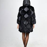 Полушубок-куртка из натурального меха ондатры